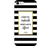 Black And White Stripes Pattern Back Case for iPhone 6