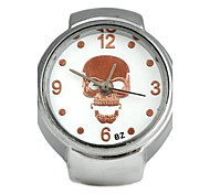 Unisex Skull-Shaped Round Dial Alloy Quartz Ring Watch White K (1Pc,Assorted Colors) Cool Watches Unique Watches