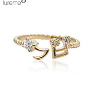 Lureme®Music Note Open Ring