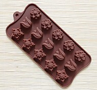 15 Hole Tulip Shape Cake Mold Ice Jelly Chocolate Mold