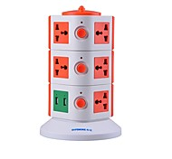 Overload Protector 5V/2.1A 3 Floor with 11 Universal Outlets and 2 USB US Adapter Power Strips