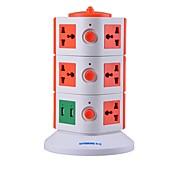Überlastungsschutz 5V / 2.1a 3 Etage mit 11 Universal-Steckdosen und 2 USB-Adapter uns Steckdosenleisten