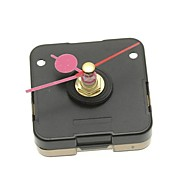 Black Quartz Clock Movement with Pink Alloy Round Hour Minute Hand DIY
