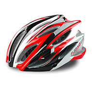 FJQXZ 23 Vents EPS+PC Red Integrally-molded Cycling Helmet(58-63CM)