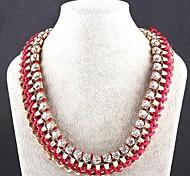 Exaggerated Fashion Chain Diamond Necklace