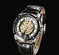 Men's Skeleton Dial  Leather Strap Automatic Mechanical  Watch(Assorted Colors)