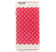 Red Lace Pattern Protective Hard Case for iPhone 6