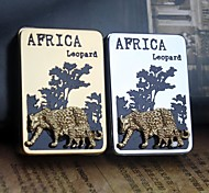 Personalized Engraving Leopard Pattern Metal Electronic Lighter
