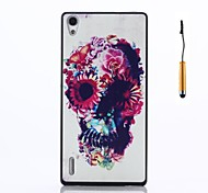 Back Cover Shockproof Skull PC Hard Case Cover For Huawei Huawei P7
