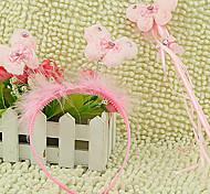 Pink Butterfly Pattern Headband & Hand Crutch Kids' Halloween Party Accessories
