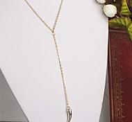 Fashion Little Pepper Drop Golden Alloy Pendant Necklace(1Pc)