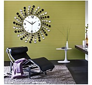 Fashionable Creative Black And White Diamond Modern Luxurious Sitting Room Wall Clock