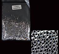 10000 Pcs 1.5MM Clear Crystal Glitter Nail Art Acrylic Rhinestone Decoration
