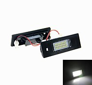 4W 24X3528 SMD White light LED License Plate Light for E63 E64 E81 E87 E85(DC 12V)