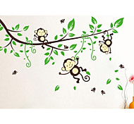 Wall Stickers Cartoon Monkey Home Decoration JiuBai™ Wall Decal
