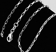 925 Sterling Silver With Thick Plaid Necklace Men and Women