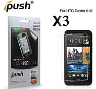 High Transparency HD LCD Screen Protector for HTC Desire 610 (3 Pieces)