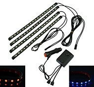Waterproof 36W 5050 Chip   4 * 18LED   Car Atmosphere Lights  with The Remote Control (DC12V)