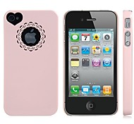 Heart Shape The Leakage Back Cover Case for iPhone 4/4S (Assorted color)