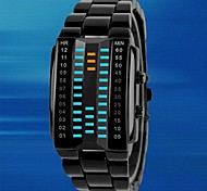 Men's Rectangle Case Alloy Band  LED  Sport Waterproof Watch (Assorted Colors)