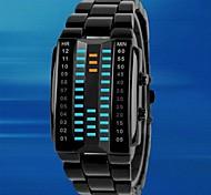 Masculino Relógio Esportivo Digital LED / Impermeável Lega Banda Preta / Prata