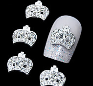 10pcs   3D Rhinestone Crown DIY Alloy  Accessories Nail Art Decoration