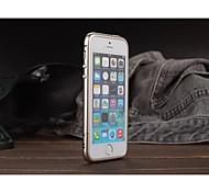 luphie círculo arco caso de metal de alumínio no vidro traseiro para iPhone 5 / 5s (cores sortidas)
