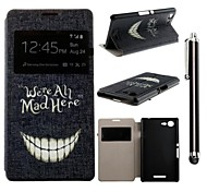 Crazy Teeth Pattern PU Leather Full Body Case and A Stylus Touch Pen for  Sony Xperia E3 D2203 D2206