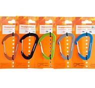 7mm doigt fil mousqueton porte-clés à déclenchement rapide pendaison porte-clés (couleur aléatoire)
