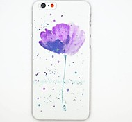 Flower Pattern PC Leather Back Cover Case for iPhone 6