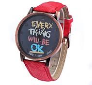 homens e mulheres são relógio fita chinês relógio neutro moda movimento circular retro pulso (cores sortidas)