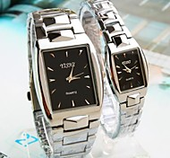 Couple's Square Dial Steel Strip Band Quartz Fashion Watch (Assorted Colors) Cool Watches Unique Watches