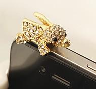 новый полный алмазов Flying Elephant 3,5 Anti-Dust Разъем для Iphone / Samsung (ассорти цветов)