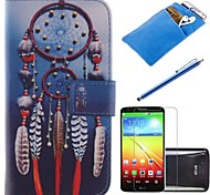 Dreamcatcher Design PU Leather Full Body Case with Stylus、Protective Film and Soft Pouch for LG G2 mini