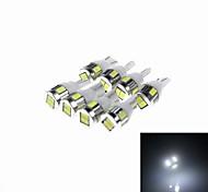 t10 3W 180LM 6 x smd 5730 ha condotto bianco della lampada dell'automobile della luce - (CC 12V / 8 pezzi)