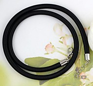 Fabric Necklace Black (1Pc)