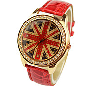 Women's Fashion Diamante Union Jack Watches(Assorted Colors) Cool Watches Unique Watches