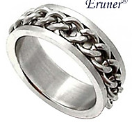 Eruner®Unisex Metal Chains Titanium Steel Ring