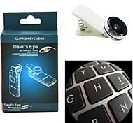 lente de ojo de pez Lente de apexel diablo con el clip universal para iphone / ipad y otros