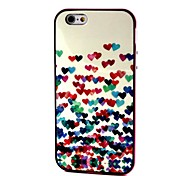 2-in-1 Many Colorful Heart Pattern TPU Back Cover with PC Bumper Shockproof Soft Case for Apple iPhone 6