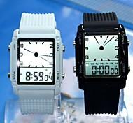 deporte del reloj de correa de silicona de línea de los hombres LED Reloj de pulsera resistente al agua (colores surtidos)