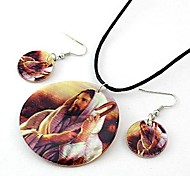Fashion Shell Necklace And Earring Jewelry Set Random Color