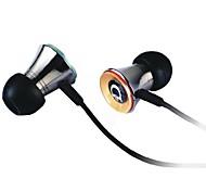 fones de ouvido de metal tridente gama completa de ruído isolamento intra-auriculares para cd mp3 iphone ipod UNU 12 dn-