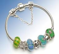 Green Charm Bracelet for Valentine and Christmas Gift