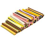 Modèle de gâteau 50pcs autocollant de tige de canne bâton 3d mixs ongles de couleur décoration d'art