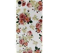 White Flowers Pattern Design Durable TPU Cover Case for Sony Z3