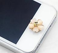 1pcs trèfle à quatre feuilles opale 1cm boutons autocollants pour iphone et autres