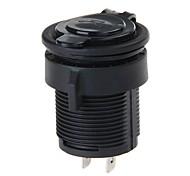 Autos Motos dc 12-24v 2.1a dual usb enchufe adaptador de cargador para la PC móvil (negro)