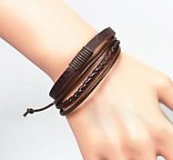 Men's Fashion Vintage Leather Bracelet Jewelry Christmas Gifts