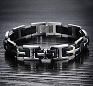 Classic Stainless Steel Bracelet sSilicone Men Cross Religion